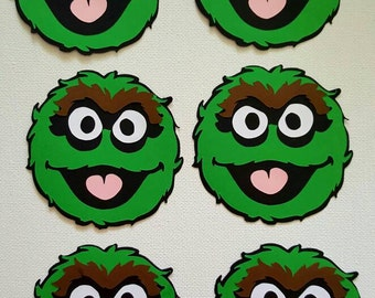 Oscar the Grouch Die Cut Set of 6