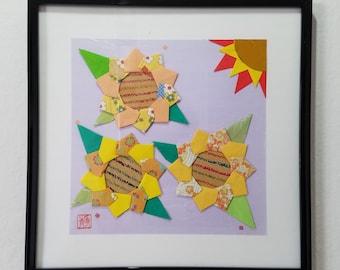 Sunflower Origami Picture