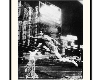 Black & White, Vintage Art, Photography, Superimposition, Photogram, Vintage photography, Vintage olympics