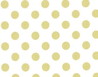 1 yard of Glitz Quarter Dot Pearlized by Michael Miller Fabrics