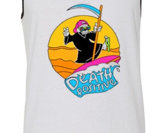 "Surf's Up ""Death Positive"" Unisex Tank"