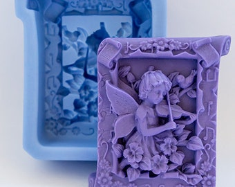 Fairy playing a Violin Silicone Mould