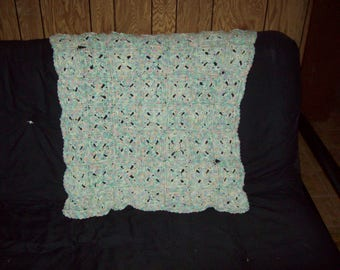 Pastel Puffed Granny Square Baby Afghan Crochet Baby Blanket Unisex Baby Blanket