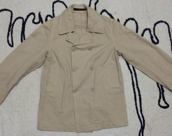 Vintage 90s Stone Island Trench Coat, Long Coat, Made in Italy great condition, Rare