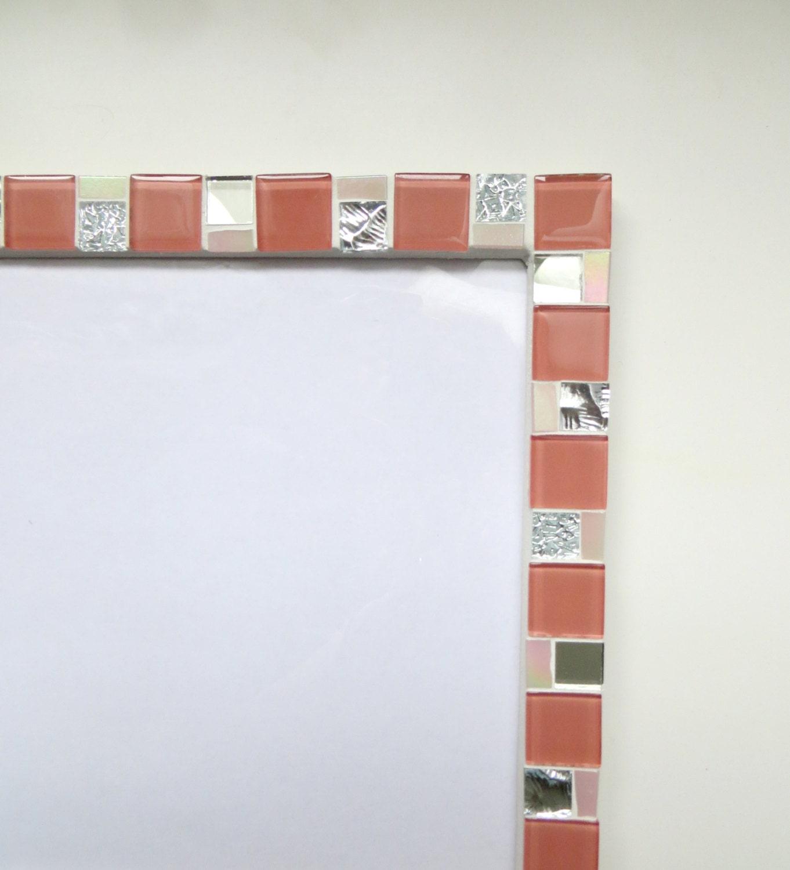 8x12 frame - Mosaic wall photo frame - Pink frame - Photo frame 8x12 ...