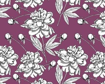 Dressmaking Purple Fabric, Floral Print, Georgette Viscose Fabric, Sewing Decor, Rayon Fabric, Fabric By The Yard, MIN-FL15J