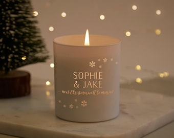 Fiancee Christmas Gift Personalised Winter Candle
