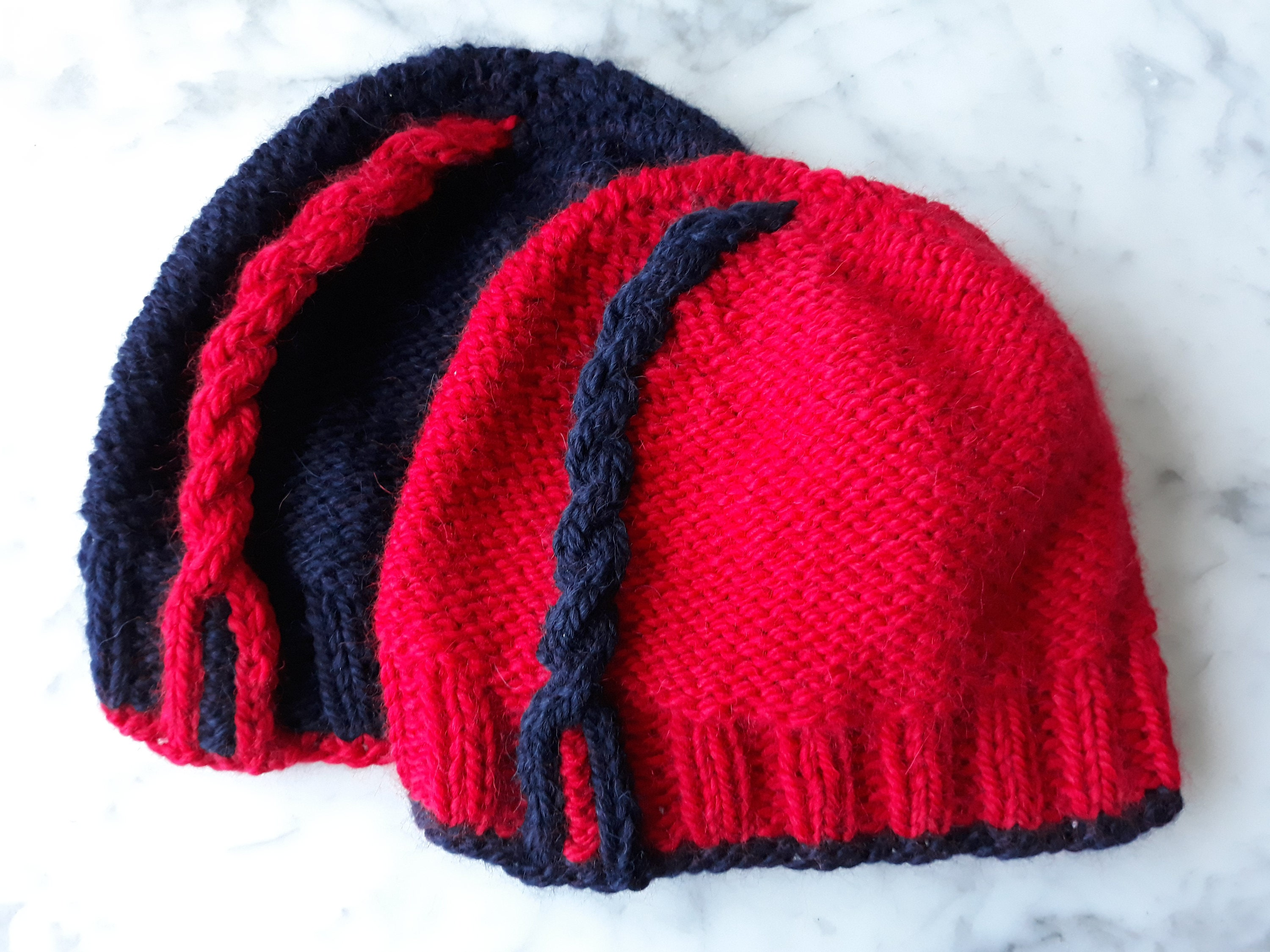 Knitting pattern: instant download PDF. Chunky knit beanie pattern ...