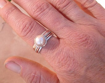 Pearl Stack Ring