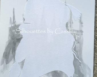 """Dumbledore """"ghost"""" cut paper silhouette"""