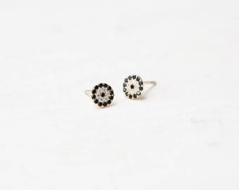 Evil Eye Stud Earrings, Tiny Stud Earrings, Stud Earrings, Evil Eye, Small Evil Eye studs, Evil Eye Jewelry, E022