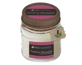 Tallow Candle – Cranberry Marmalade