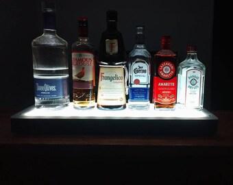LED Illuminated Bottle Shelf for Home Bars, Entertaining, S&H Included