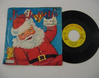 Very Rare! Peter Pan Records - The Caroleer Singers - Jingle Bells - Circa 1965 (45rpm)