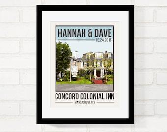 Destination Wedding, Wedding Venue, First Anniversary, Custom Location, Honeymoon Keepsake, Vintage Travel Poster Style, Wedding Gift