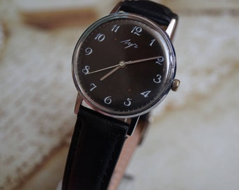 Watch USSR Old Soviet Retro Luch Gift for him USSR watch Soviet watch Retro watch Russian watch Rare soviet watch Vintage watch Mens watch