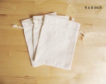 Small Plain Muslin Bag 4