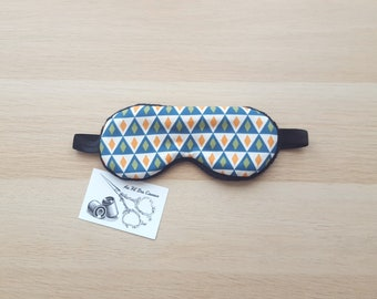 Sleeping mask / / sleep mask / / sleep accessory / / sleep - blue Harlequin accessory