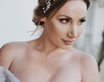 "Wedding Hair Accessories, Bridal Headband, Bridal Hair Accessories, Bridal Headpiece ~ ""Addison"" Wedding Hair Vine Headband"