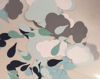 Oversized Cloud Raindrop Confetti Pack