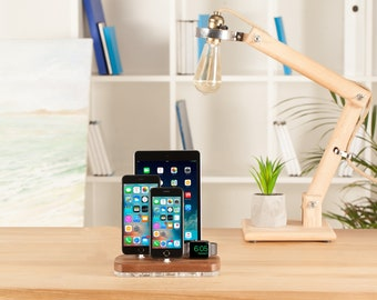 Apple Dock Station, iPhone Apple Watch Stand, iPad iPhone Charging Station, iPad Stand iPhone X, 8 Charging Station, AirPods Docking Station