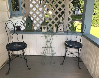 Blue Ice Cream Parlor Chairs