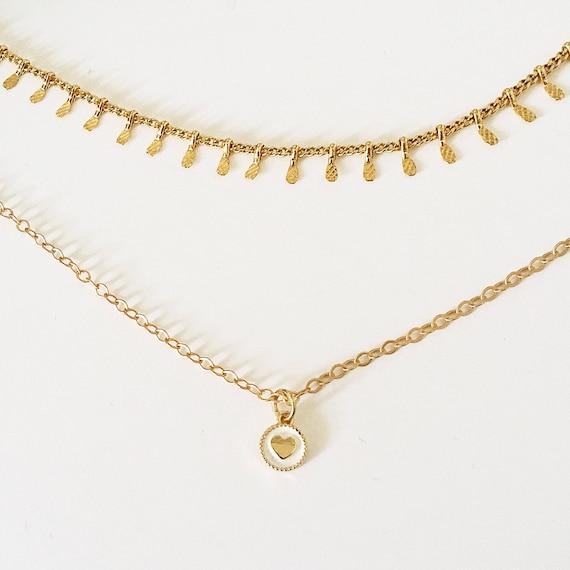 Gold heart necklace heart pendant friendship necklace gold heart necklace heart pendant friendship necklace gold necklace gold dainty necklace gold chain gold choker love necklace aloadofball Gallery