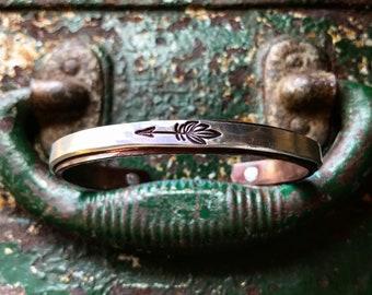 Mixed Metal Boho Arrow Cuff Bracelet