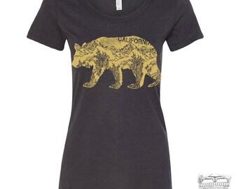Womens CAlifornia BEAR -  Lightweight Tri Blend t shirt [+Colors] S M L XL XXL custom