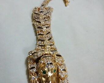 Vintage tiger link bracelet