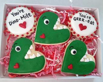 Dino Mite Valentine's Day Cookie Gift Set