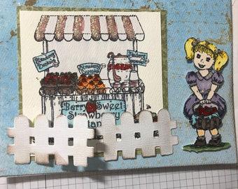 Heartfelt Creations Blank Greeting Card Berry Cafe