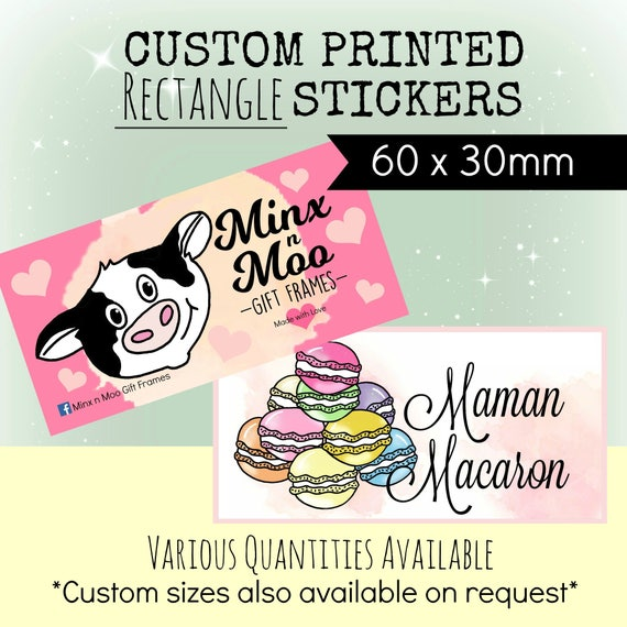 Custom stickers design plus x96 professionally printed 60mm