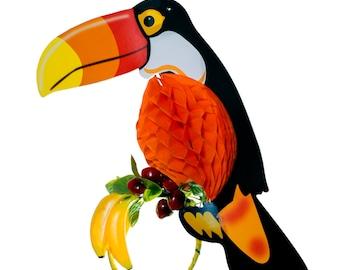 Fruity Toucan Headpiece with Fold-Away Body