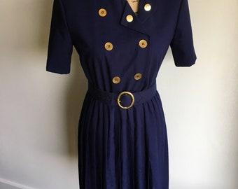 Vintage 1950s Dress - Pleated Skirt