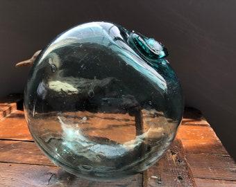 Japanese Glass Fishing Float -- Slightly Wonky, Interesting Size