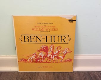 Ben Hur movie soundtrack vinyl record