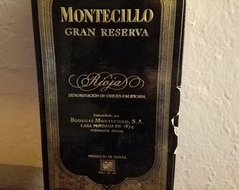 UNIQUE GIFTBOX for Wine Connoisseurs 1982 Bodegas Montecillos Magnum Special Edition Box