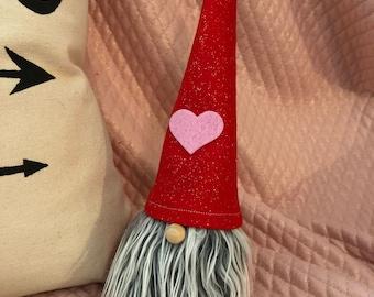 Valentine Gnome Boy Gnome Love Valentine Decor Scandinavian Gnomes Nisse Tomte