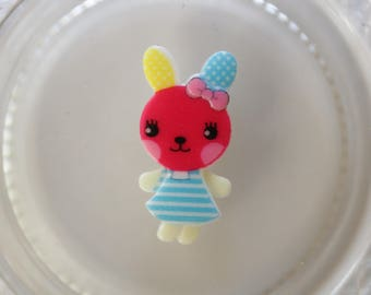 Bunny Pink and blue resin scrapbooking