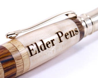 Engraved Wood Pen | Custom Engraving Only | Personalized Gift | Add-on Item |