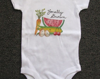 Cute Baby bodysuit, Unique Baby clothes, Baby Farm Clothes, Kids Clothes, Locally Grown, Farm baby, baby gift