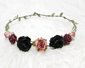 Black-purple flower Crown