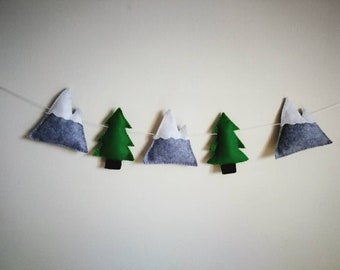Mountain felt garland