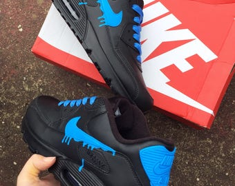 Fluorescent blue drippy nike air max 90