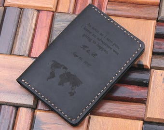 Leather travel wallet personalized multiple passport cover leather travel wallet leather passport cover personalized world map passport holder custom text gumiabroncs Images