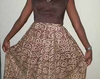 African print maxi dress
