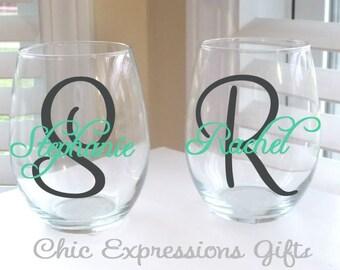 Personalized 20 oz stemless wine glass