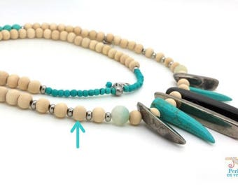 wood 100 round beads 8mm ideal for necklace ethnic jewelry (pb38)