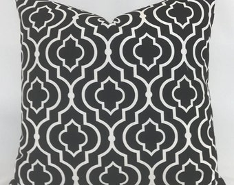Pillow Cover - Black and White - Black Pillow - White Pillow - Geometric Pillow - Modern Pillow- Fully Lined Pillow - Zippered Pillow